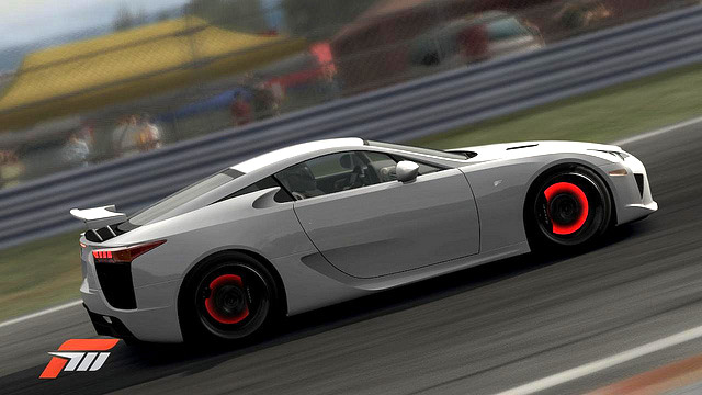 Lexus LFA in Forza Motorsport 3 Glowing Brakes