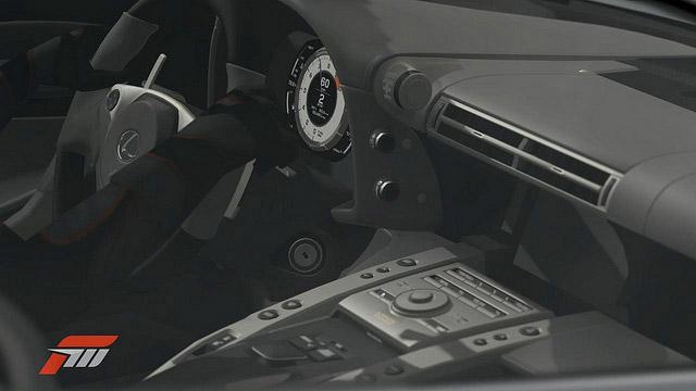 Lexus LFA in Forza Motorsport 3 Interior