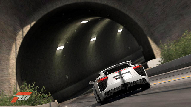 Lexus LFA in Forza Motorsport 3 Tunnel