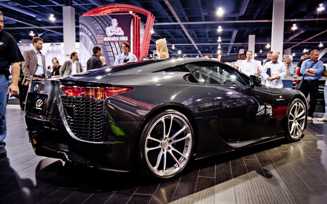Lexus LFA at SEMA with CEC wheels
