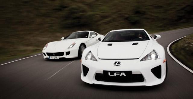 Lexus LFA vs. Ferrari HGTE