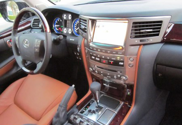 Lexus LX Orange Interior