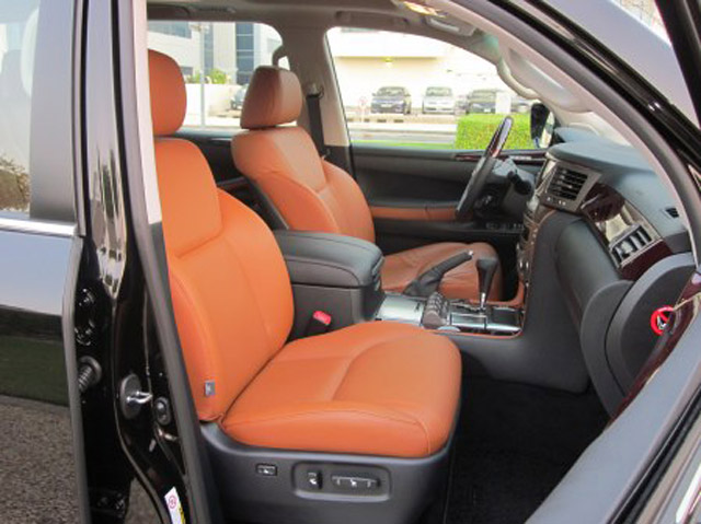 Lexus LX Orange Interior Front Seats