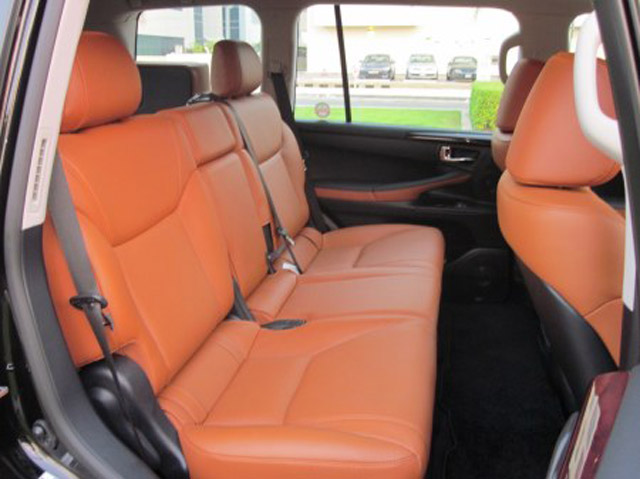 Lexus LX Orange Interior Rear Seats