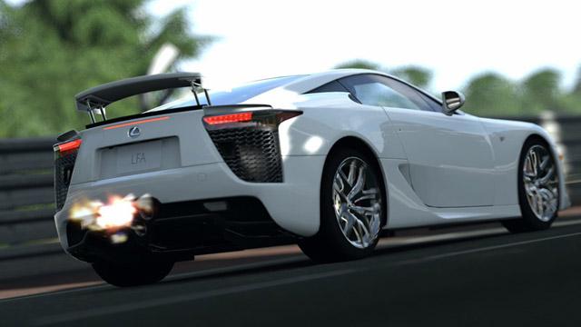 Lexus LFA in Gran Turismo 5 Fire