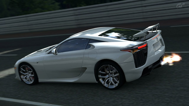 Lexus LFA in Gran Turismo 5 Rear