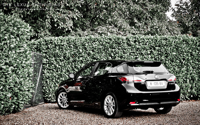 Black Lexus CT 200h Leaves