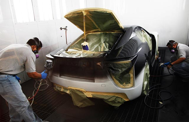 Lexus LFA Being Painted