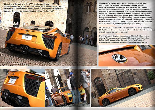 Lexus LFA in Gran Turismo 5 Magazine