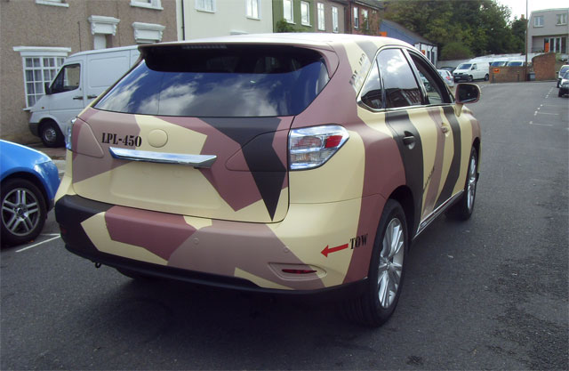 Camouflaged Lexus RX 450h Rear