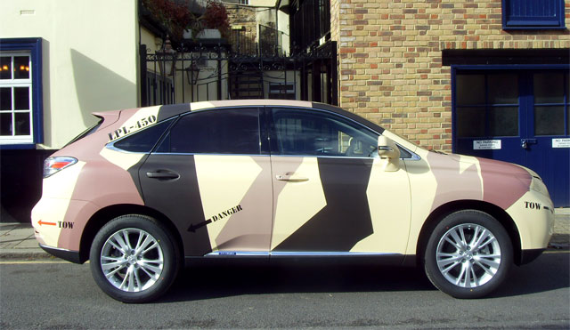 Camouflaged Lexus RX 450h Side Profile