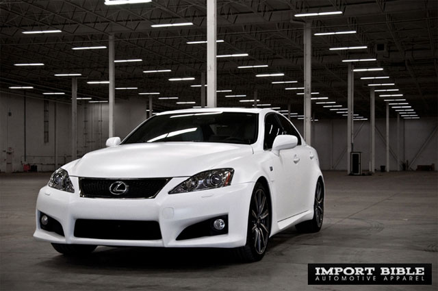 Matte White Lexus IS-F