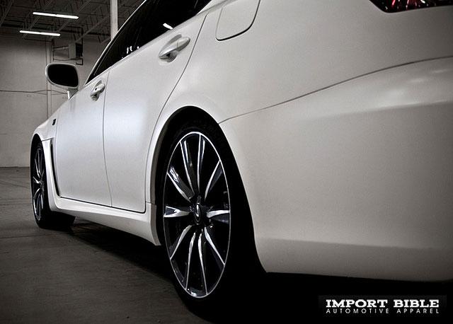 Matte White Lexus IS-F Stance