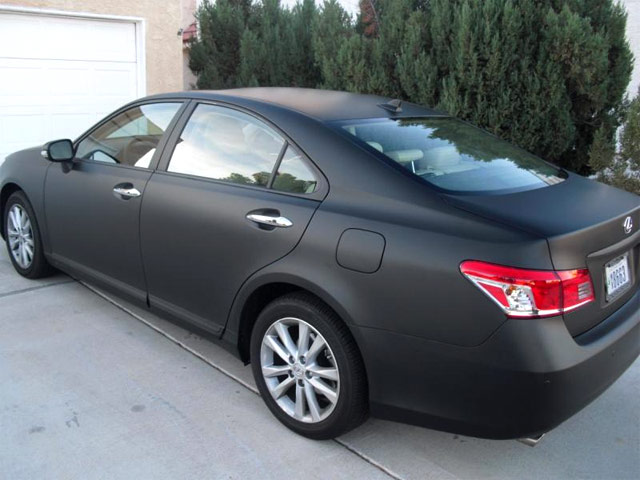 Matte Black Lexus ES 350 Side