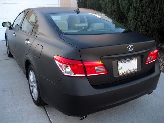 Matte Black Lexus ES 350 Rear