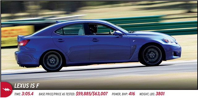 2011 Lexus IS F in Car & Driver's Lightning Lap 2011