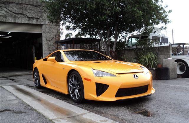 Orange Lexus LFA Front