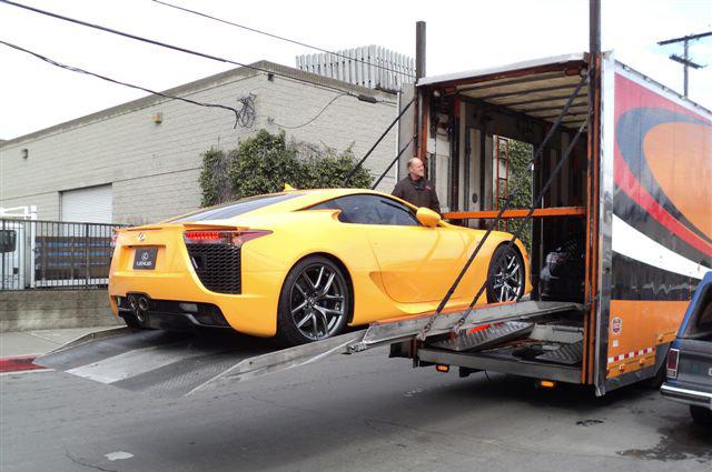 Orange Lexus LFA Rear
