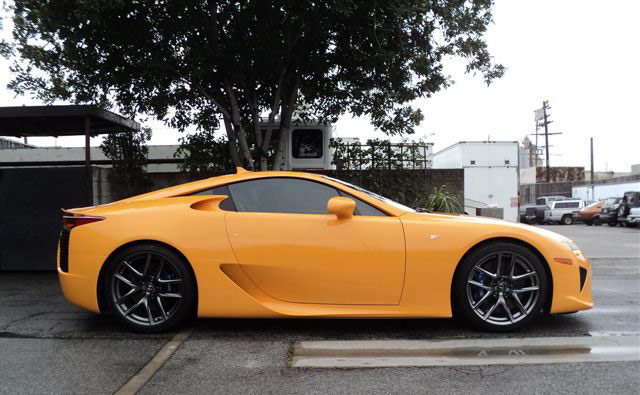 Orange Lexus LFA Side Profile