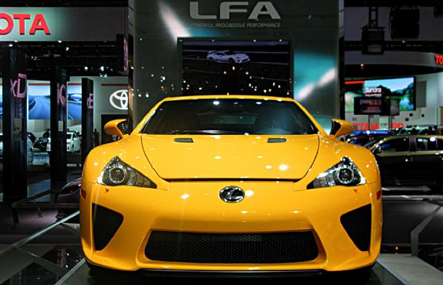 Lexus Magazine Orange LFA Front