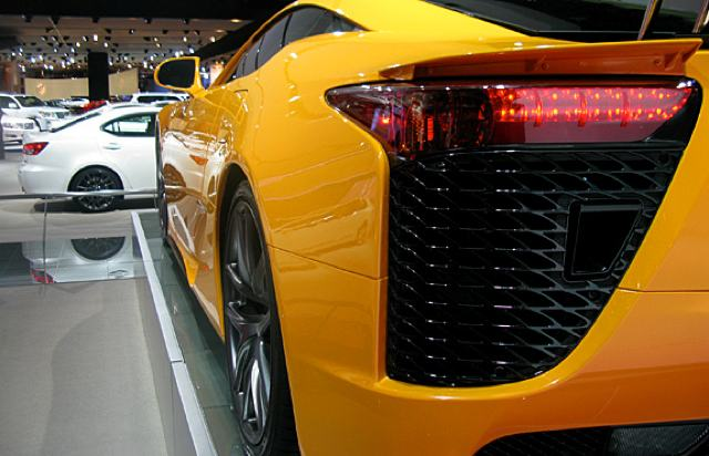 Lexus Magazine Orange LFA