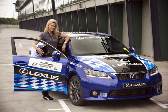 Lexus CT 200h Racing in Australia with Kelly Landry