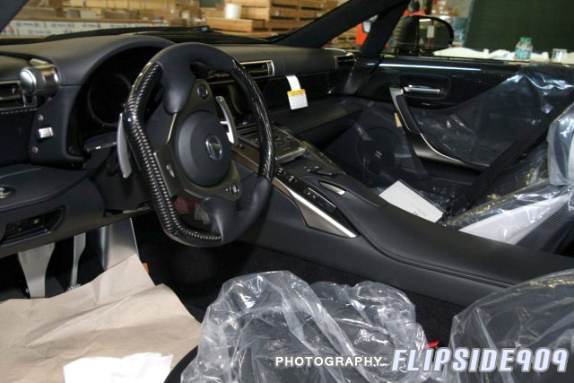 Lexus LFA #026 Black Interior