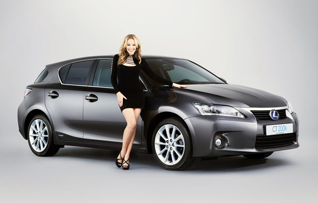 Kylie Minogue & the Lexus CT 200h