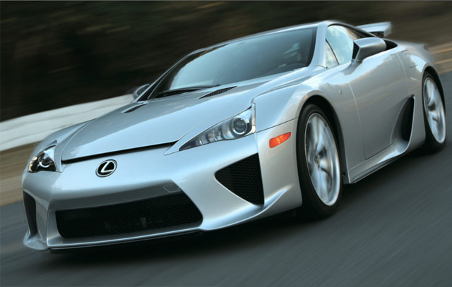 Silver Lexus LFA