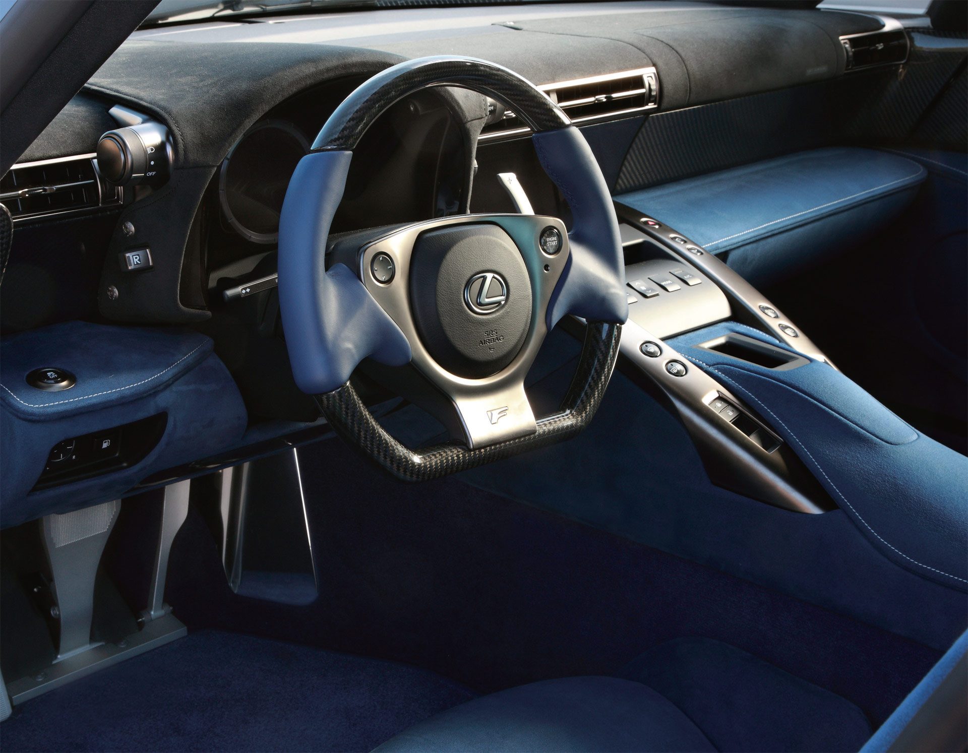 Lexus LFA With Blue Alcantara Interior