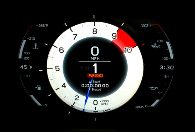 Lexus Lfa Dashboard With Launch Control Activated