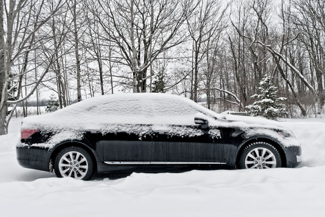 Lexus LS 600hL in Snow
