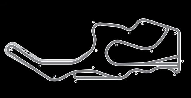 Infineon Raceway Map