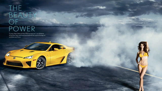 Lexus LFA with Supermodel Rianne ten Haken
