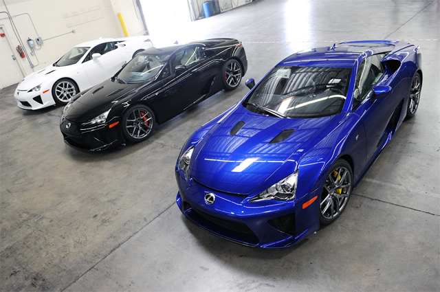 All Three Lexus LFAs