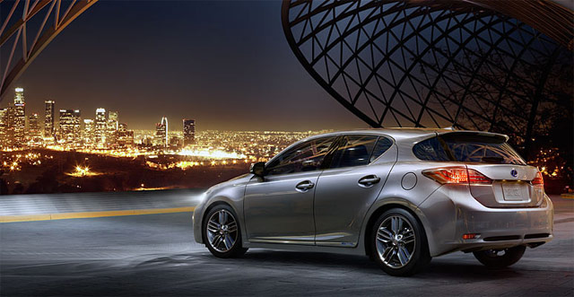Lexus CT 200h at Night