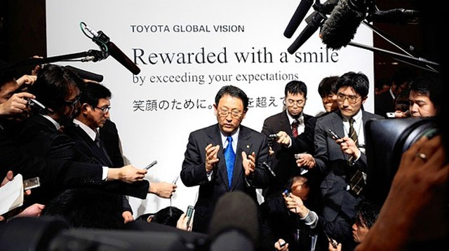 Akio Toyota at Toyota Global Vision Press Conference