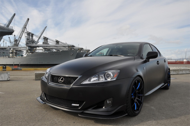 Matte Black Lexus IS 350