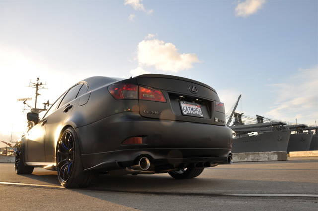 Matte Black Lexus IS 350