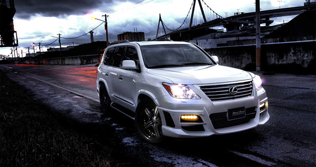 Lexus LX 570 with Wald International Black Bison Body Kit