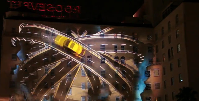 Lexus CT 200h 3D Projection Display