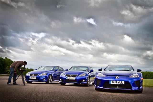 Lexus LFA, IS-F & IS F-Sport