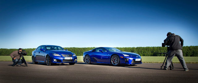 Lexus LFA & IS-F Together