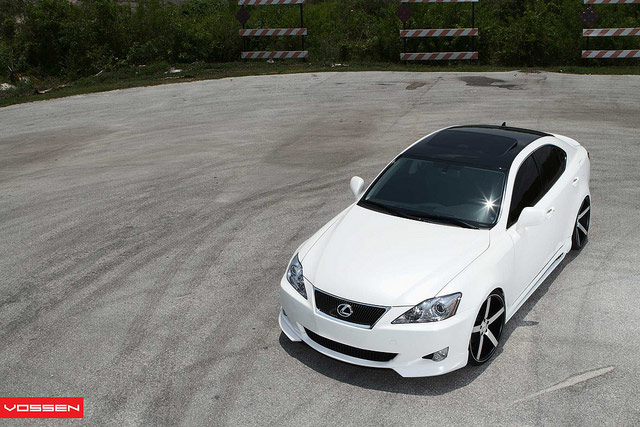 Lexus IS with Vossen VVS-CV3 Wheels Bird's Eye'