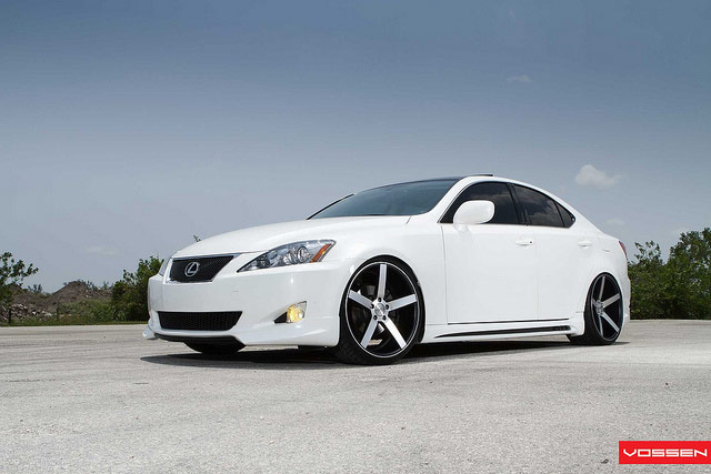 Lexus IS with Vossen VVS-CV3 Wheels 3/4