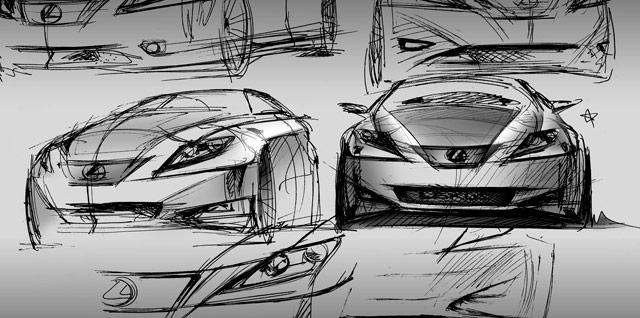 Lexus IS Concept Sketches