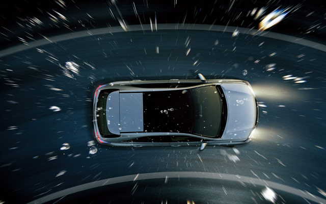Lexus RX with Panoramic Roof Birds Eye view