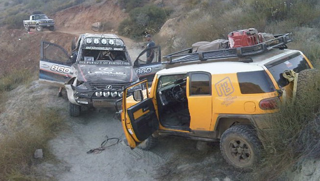 Lexus LX Racer Joe Bacal Drives Off Mountain During Baja 500
