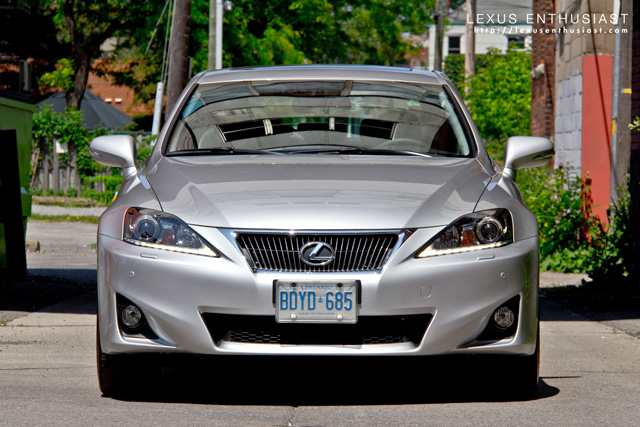 Front of the 2011 Lexus IS 350 AWD