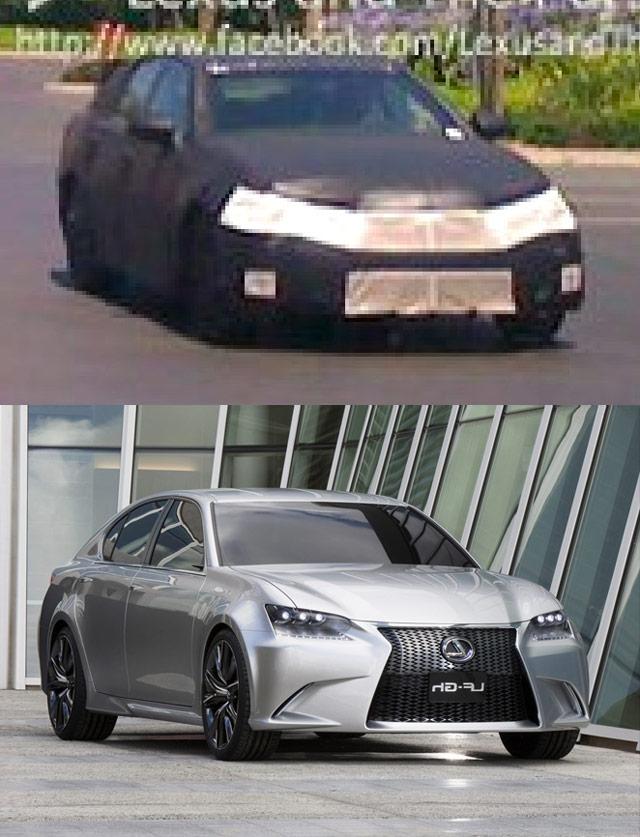2012 Lexus GS vs Lexus LF-Gh
